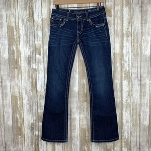 Miss Me Signature Boot Cut Jeans Sequin Pockets 27